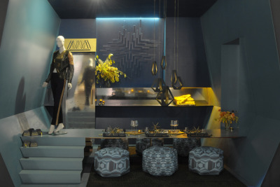 Our space at Serving Up Style is up! With design concept ANNICA: The Buddhist Concept of Impermanence, this conceptual restaurant offers dynamic dining with an ever-changing menu. Appearing able to fold or morph, ANNICA reminds us that life is a matter of perspective, and stasis is but an illusion. Welcome to change.    VOTE FOR OUR TEAM ONLINE! We're #19…http://www.houzz.com/discussions/208614/ Serving Up Style is the signature fundraising event for Molly's Fund Fighting Lupus, taking place RIGHT NOW through October 7th at the Portland Expo Center, in conjunction with the Fall Home & Garden Show. Come check out the exhibit and help support Molly's Fund!