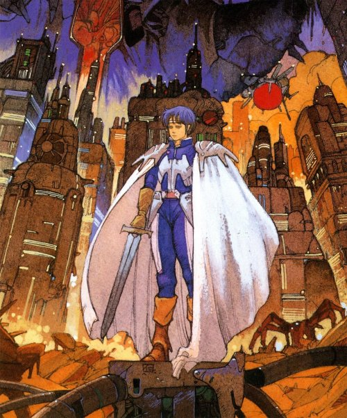 Source artwork used on the Japanese cover of Phantasy Star 2 by Hitoshi Yoneda.