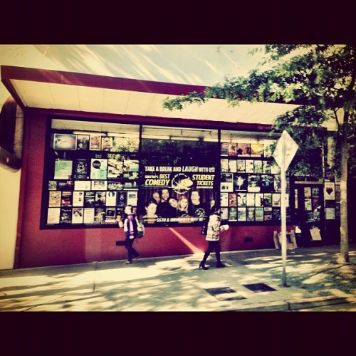 Now that's what I am talking about, a wall full of posters #udistrict #igers_seattle #seattle #attendible #igers_seattle_fav #wearejuxt #street #posters  (Taken with Instagram at University Bookstore)