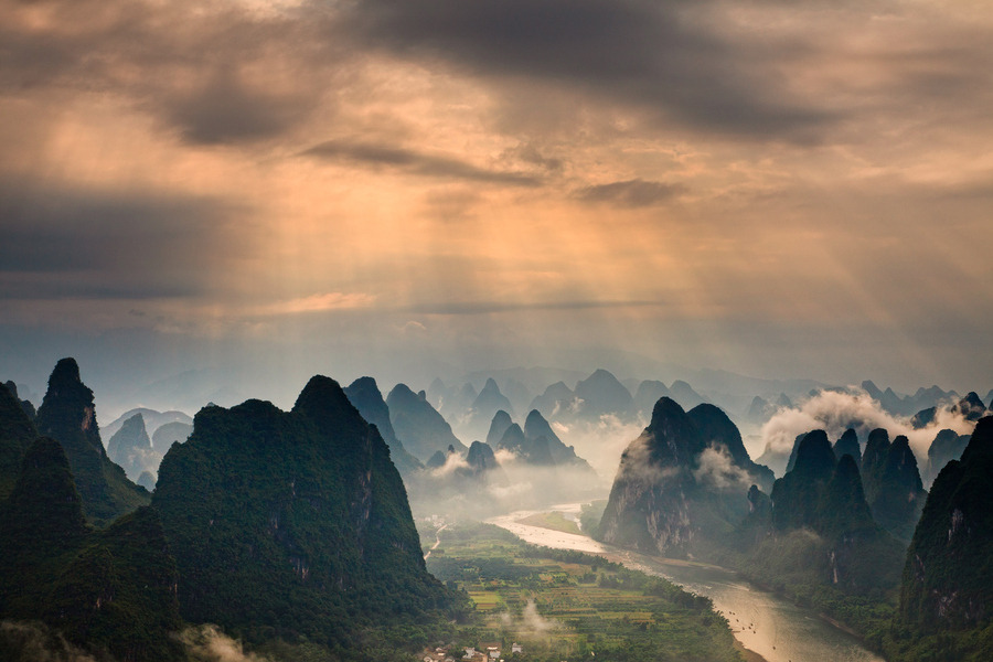 "landscapelifescape: Guilin, China ""Guilin Scenery"" by Helminadia Ranford"