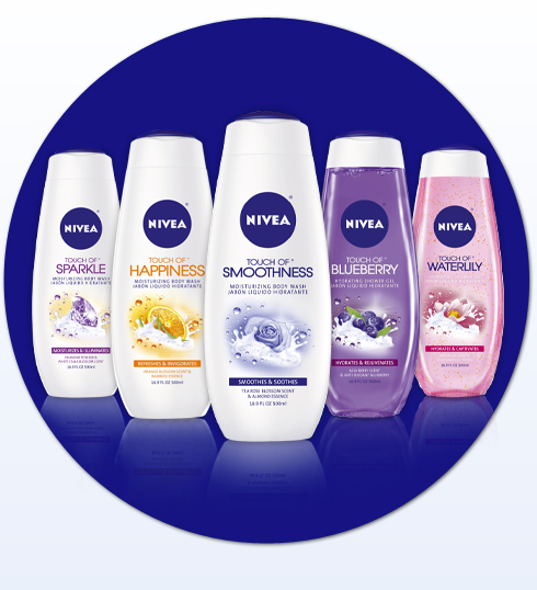 Get a FREE sample of Nivea Touch of Smoothness Body Wash here!