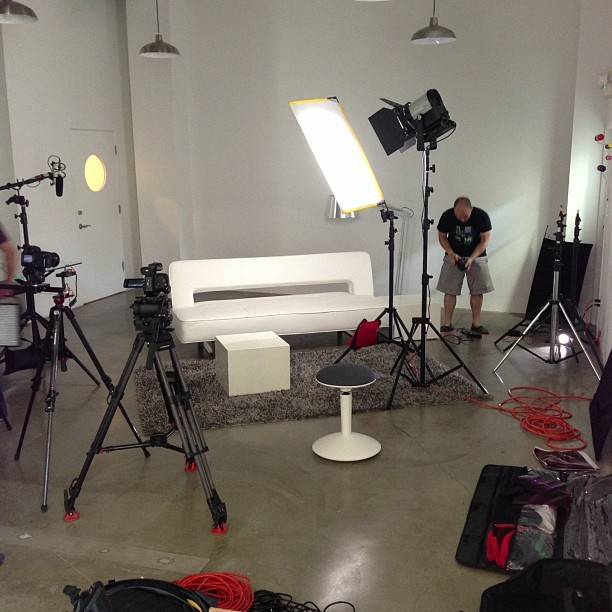 stevewoolf:  Shooting a new show for @Blip! (Taken with Instagram)