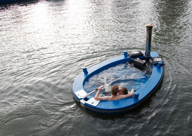 A hot tub in a tug boat. Yes. The HotTug is real. Read all about it.
