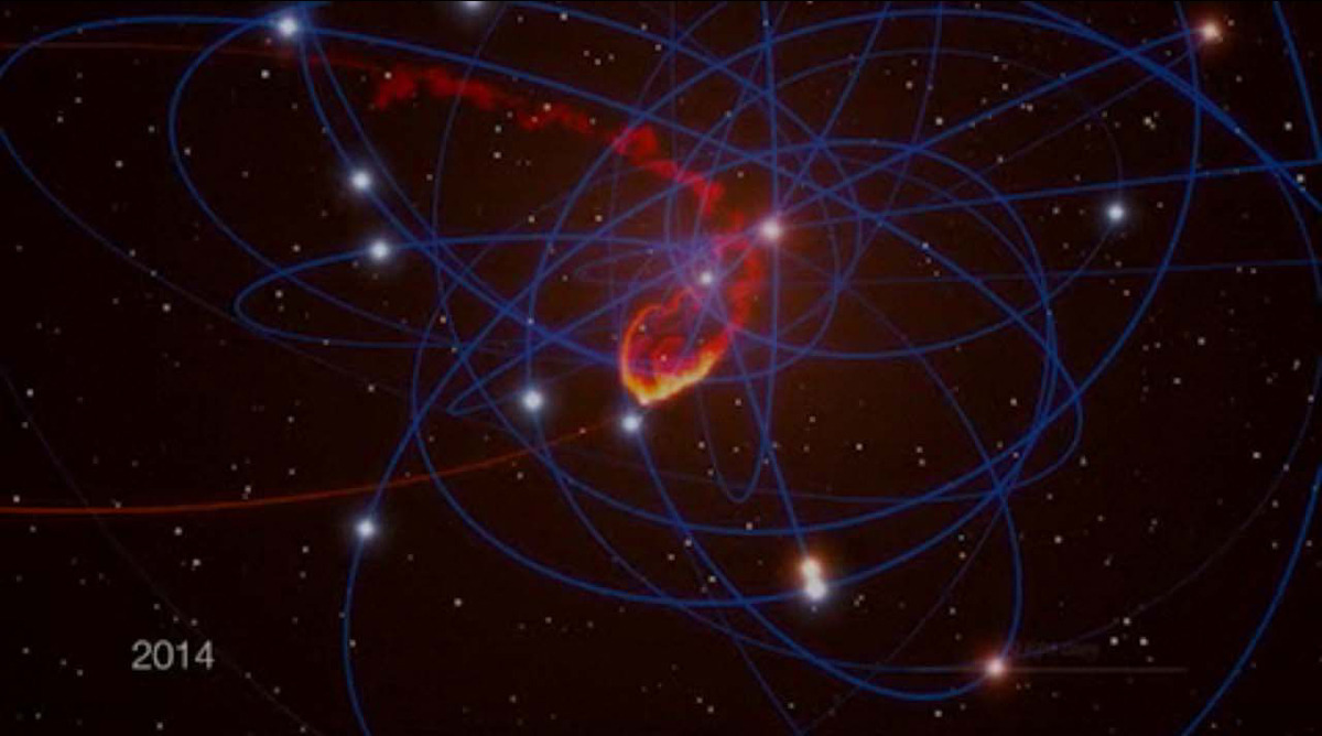 "rhamphotheca:   Milky Way's Giant Black Hole to Eat Space Cloud in 2013 by Clara Moskowitz The colossal black hole at the center of our Milky Way galaxy will soon to get a big, tasty meal, astronomers say. A humongous gas cloud is on a collision course for the Milky Way's core — the home of Sagittarius A* (said: ""Sagittarius A-star""), which scientists suspect is a supermassive black hole with the mass of 4 million suns. When the huge gas cloud arrives in the vicinity, which it will appear to us to do in mid-2013, it will surely be swallowed up by the hungry black hole, scientists say. Astrophysicist Stefan Gillessen of the Max Planck Institute for Extraterrestrial Physics in Munich, Germany, has been observing the Milky Way's center for about 20 years. So far, he's seen only two stars come as close to Sagittarius A* as the cloud will. ""They passed unharmed, but this time will be different: the gas cloud will be completely ripped apart by the tidal forces of the black hole,"" Gillessen said in a statement… (read more: Space.com)           (image: Euro. Research Media Ctr.)"