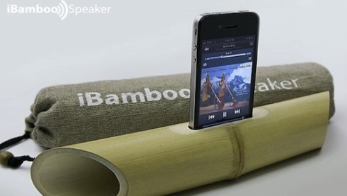 iBamboo: Most eco-friendly speaker yet?Simple physics: No batteries, no plastics, no silicon. Brilliant!