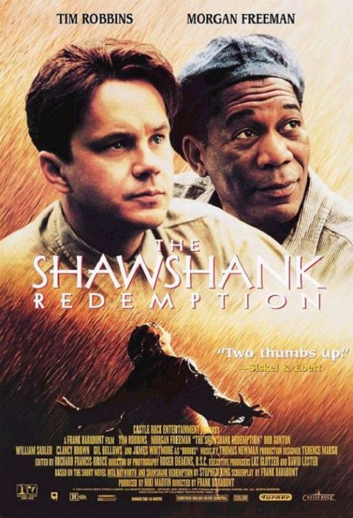 #417/#134 The Shawshank Redemption (Rewatch) Following the story of inmates Andy Dufresne (Tim Robbins) and Red (Morgan Freeman) during their time at Shawshank penitentiary. What is there really left to say about this film? It's number 1 on IMDB's best movies list and consistently in the top 5 for nearly every other list I've come across. Clearly it's doing something right! Shawshank has some beautifully shot scenes. Big sweeping vistas of the prison and some great cinematography. Similarly the music is also top notch, adding to the established atmosphere of any scene. It also gave us one of the first examples of a Morgan Freeman voice over and we all know that's just made of good things, but what I think makes it so high on all of the lists is the story and the characters. As an audience, we relate to Andy's false imprisonment. We would like to believe that we would take the same steps he does in order to try freeing ourselves. We also see both Red and Andy driven to their lowest points throughout the course of the movie, and then rejoice as they overcome them. It speaks to us on a fundamental human level, wanting to triumph over all obstacles and break any oppressive bonds. It might not be my number one movie, or even necessarily in my top 10, but it is one of those movies which just makes you feel contented and satisfied by the time the credits roll. That's more than enough for me. 5/5