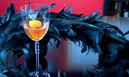 The Devil's Own - 1 oz gin, 1 oz dry vermouth, 1 oz orange liquor, dash Angostura Bitters