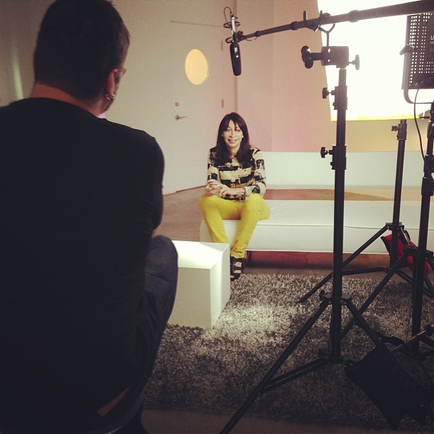 evangotlib:  stevewoolf:  Shooting with @illeanarama. (Taken with Instagram)  Very cool.  Very very cool.
