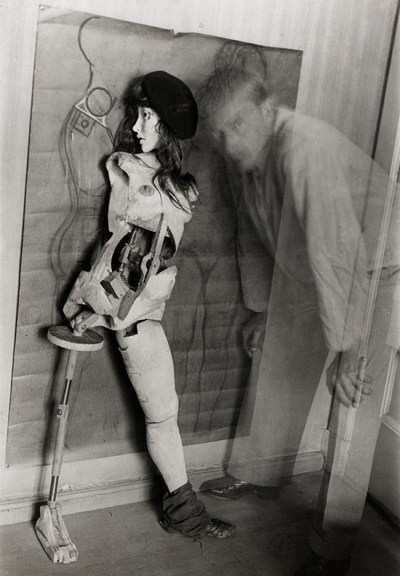 Hans Bellmer, self-portrait with doll, 1934
