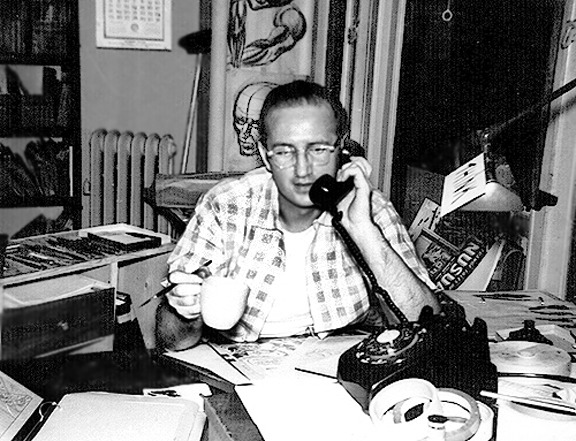 Steve Ditko, granting yet another phone interview.