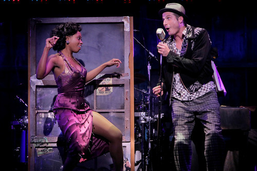 Felicia Boswell (Felicia) & Bryan Fenkart (Huey) in the National Tour of MEMPHIS - photo by Paul Kolnik