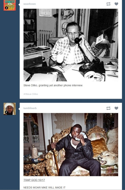 Don't you love it when Tumblr does that? What do you suppose it is they're talking about?