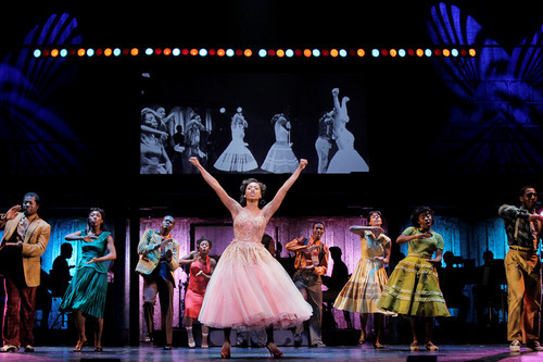Felicia Boswell (Felicia) and the National Touring Cast of MEMPHIS - photo by Paul Kolnik