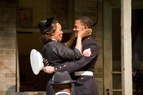 Kim Staunton and Calvin Dutton in Denver Center Theatre Companys production of Fences.