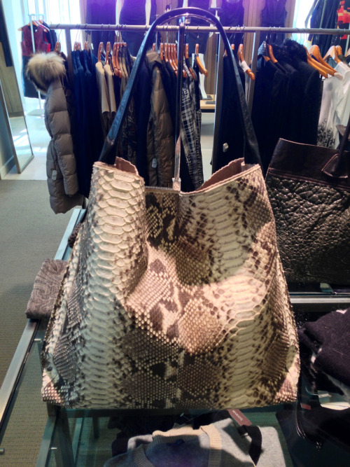 B. May python tote.  Simple and exotic at the same time.