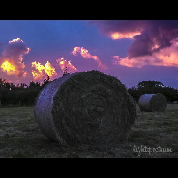 instacanv.as/lightspectrum - #hay #bails against a #beautiful #sky  Available at - http://bit.ly/QltLrK  #hay #straw #grass #amazing #sky #sunset #sun #blue #orange #red #instagood #instamood #instalove #bestoftheday #love #photooftheday http://instagr.am/p/QajOT4owM2/