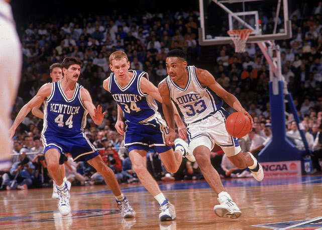 Friday marks the 40th birthday of Grant Hill. The veteran forward, who joined the Clippers in the offseason, has a career average of 17 points and six rebounds per game. (John Biever/SI) GALLERY: Classic Photos of Grant Hill