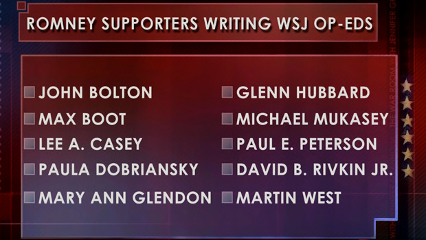 granholmtwr:  Take a look at what Wall Street Journal writers are supporting Mitt Romney.  So what? OP-EDS: opinion-editorials…