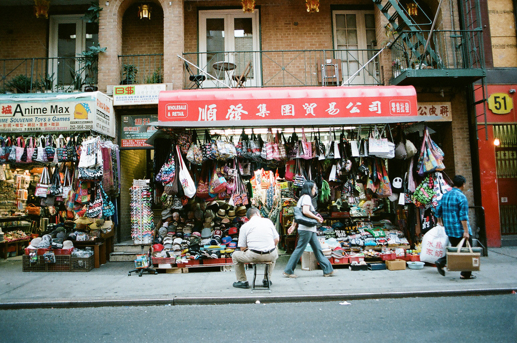 Sitting  Nikon F3 | Portra 400  Chinatown, Manhattan