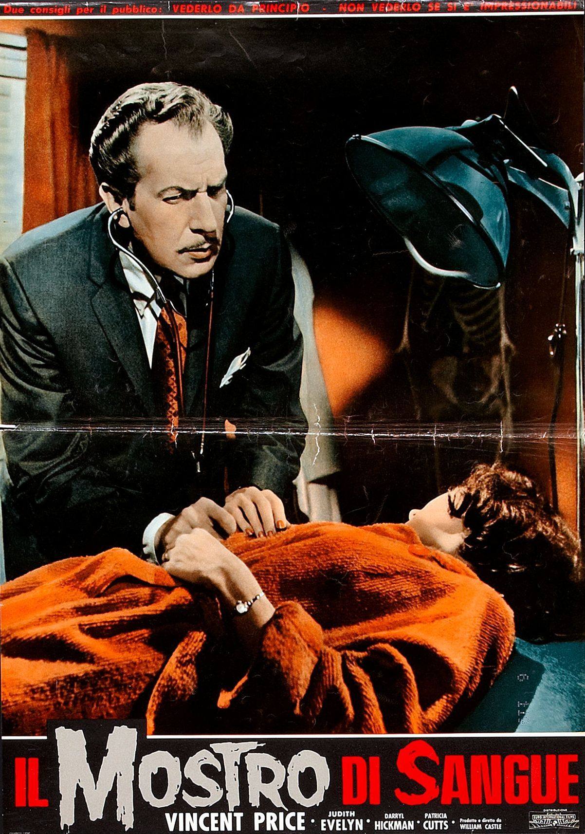 The Tingler, Italian lobby card (fotobusta). 1959