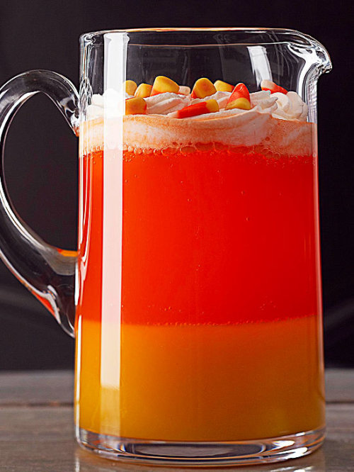 Candy Corn Drink: Make this festive drink for your Halloween get-together!