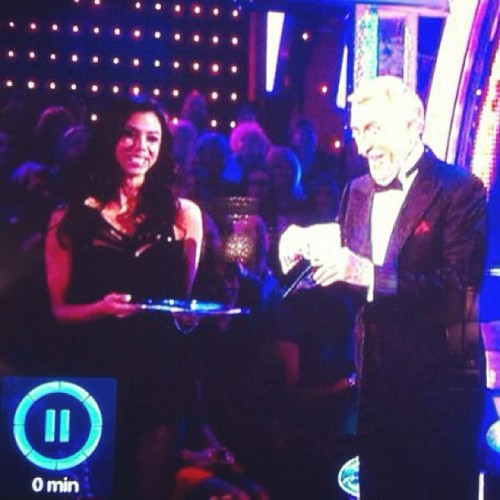 Me on #bbc tonight with Bruce Forsyth for #strictlycomedancing #strictly #dancing #bruceforsyth  (Taken with Instagram)