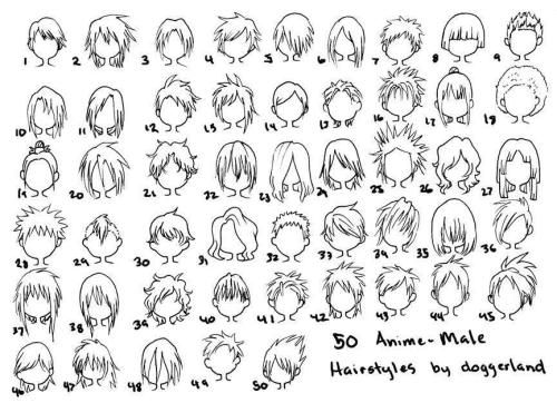 ace-heka:  50 anime hairstyles by doggerland