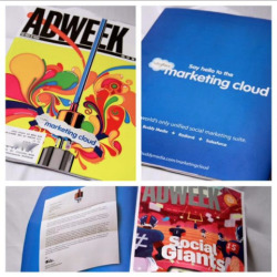 Launch of the Marketing Cloud - cover art on AdWeek.