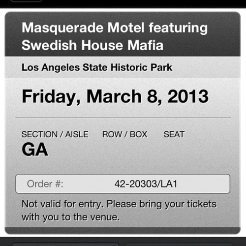 Got my tickets :)))😄😁😎✨🙌 #SHM #oneofthosedays #fuckyeah!!! (Taken with Instagram)