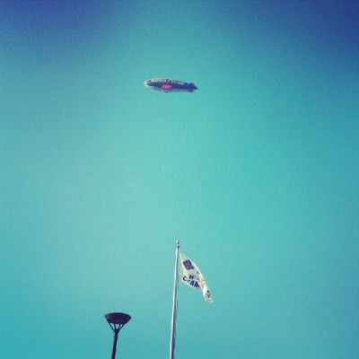 #goodyearblimp #gobraves #stuckinthebeerline (Taken with Instagram at Turner Field)