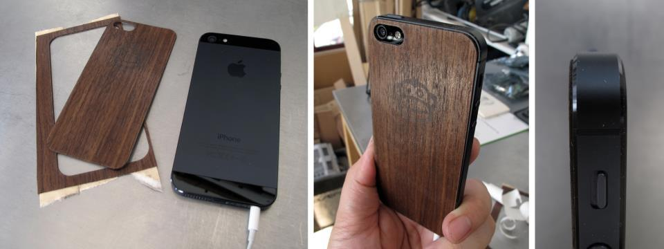 Made this iPhone back today using walnut veneer and double sided tape. Tell us - is this something you'd want to see in our shop?