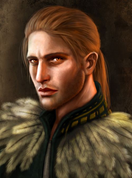 bioticbootyshaker:  queendread:  Anders from Dragon Age II About 5-6 hours, photoshop CS5. Originally I was gonna paint some crazy Justice/Vengeance thing but I couldn't bring myself to paint over his eyes, so now it's just a very sad looking portrait. Poor baby. I love him to bits.  oh my… wow. this is amazingly gorgeous, Anna. wow.