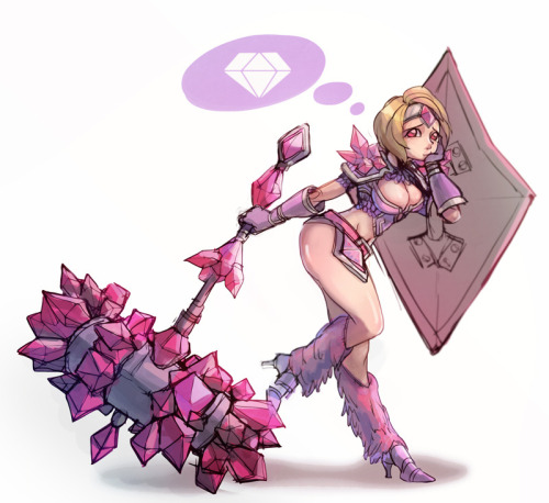 thekawaiiod:  Pink taric by ~kukon  Boy Taric is way hotter…just sayin'.