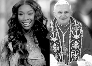 the pope copies brandy's necklace