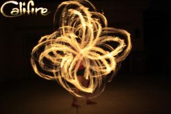 califiredancers:  Michelle with Double headed fire poi September 30, 2012