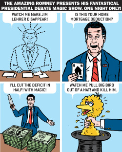 The Amazing Romney's Fantastical Presidential Debate Magic Show!