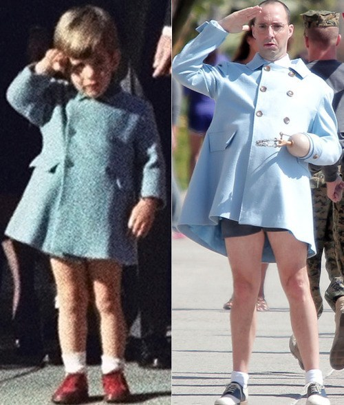 thedailywhat:  Who Wore It Better of the Day: And now this — JFK Jr. or Buster Bluth? [huffpo]  OMG
