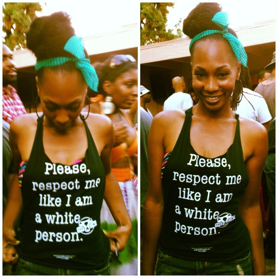 "youngblackandvegan:  angryblackchickk:  sapphrikah:  jalwhite:  thelittlekneesofbees:  I want this shirt!  damn…  This shirt is OD and I fucking NEED it.  I NEED THIS SHIRT  this would rustle the jimmies of soooooooo many of my white ""liberal"" friends which means, i must have it"