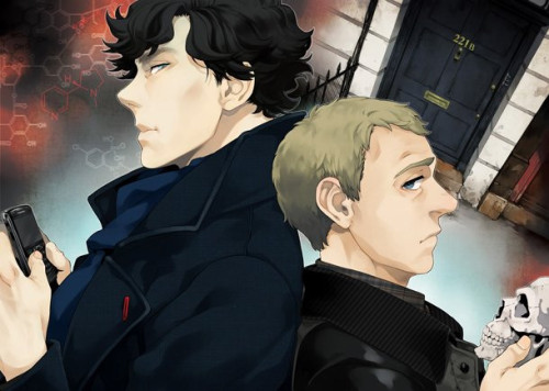 "AAAHHHHHHHHHHHHHH~  A Peek at New ""Sherlock"" Manga Adaptation Kadokawa's Young Ace (Neon Genesis Evangelion, Black Rock Shooter, Blood Lad) has kicked off its manga version of Steven Moffat's recent Benedict Cumberbatch/Martin Freeman Sherlock Holmes with its November issue, which went on sale in Japan October 4th. Artist ""Jay"" starts with the first story from the updated BBC mystery, ""A Study in Pink."""