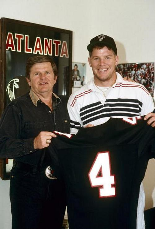 Introducing Atlanta #Falcons QB Brett Favre… Check out this AMAZING old photo: