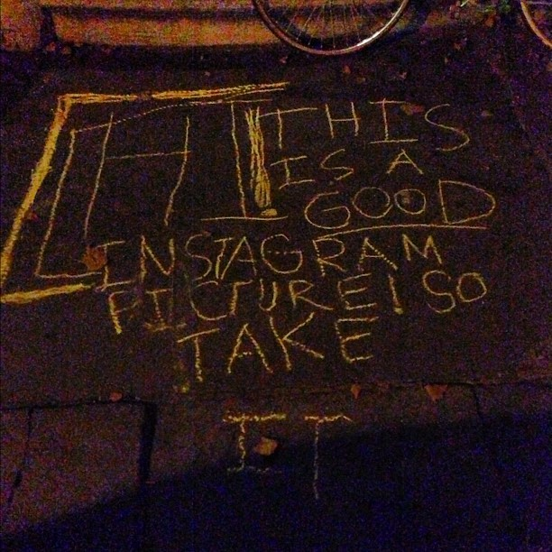 Well, ok. Nice to see that sidewalk chalk keeps up with the times. (Taken with Instagram at Fort Greene)