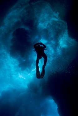 the-seventy-percent:  Diver in Cathedral - Eua (by Rowland Cain)