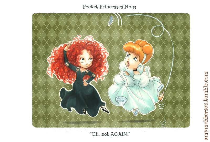 Pocket Princesses 33 - Reel Time Reblog please, don't repost! Non-digital piece! Copic markers, pencil & craft paper.