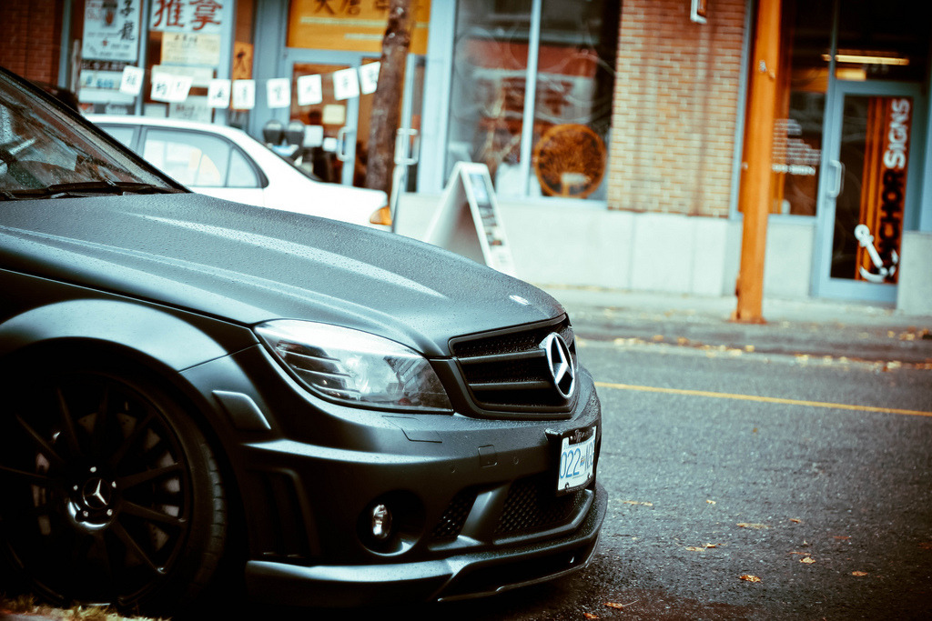 automotivated:  Matte Black C63 AMG (by nzadrafi)