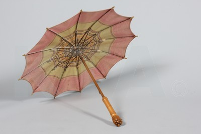 Parasol by Hermes, 1920's Paris Click to go to the absentee bidding page.  This Kerry Taylor auction will end October 16th at 2:00 PM GMT (9:00 AM EST).  You will need to register to bid ahead of time.