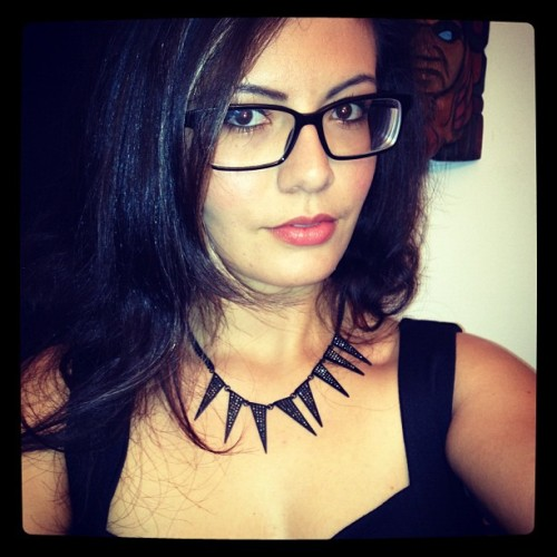 Hello. #girl #glasses #nerd #hot #black #party #boston #instaboston #instagood #igers #ootd #nighttime (Taken with Instagram)