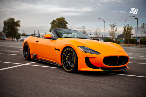 automotivated:  Maserati Gran Cabrio 'Atomic' PUR DMC (by srautogroup.com)