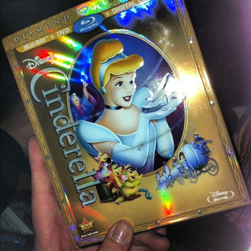 lacylovesyou:  Look what I got today! #cinderella #disney #bluray (Taken with Instagram)