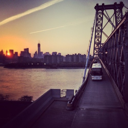 #sunset from the #Williamsburg #bridge  (Taken with Instagram at Williamsburg Bridge)