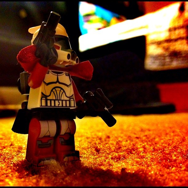 #lego #star #wars #starwars #guns #lasers #battle #mini #red #white #boss (Taken with Instagram)